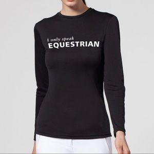 Noel Asmar Equestrian Speak Up Sun Shirt  Medium